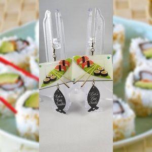 Handmade Let's Eat Sushi Earrings
